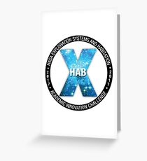 X-Hab 2017 Competition Logo Greeting Card
