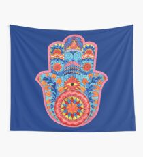 Hamsa Hand Watercolor Wall Tapestry