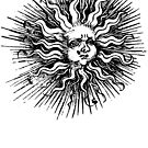woodcut sun by Megatrip
