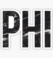 black marble phi Sticker