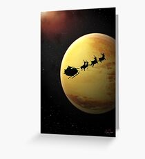 SciFi Christmas Card Greeting Card