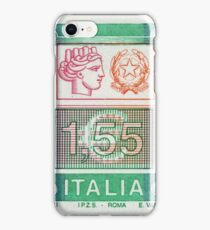 Italia Postage Stamp Print  iPhone Case/Skin