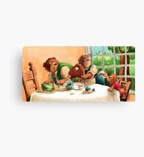 The 3 bears Canvas Print