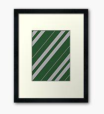 Slytherin Pattern - Hogwarts Houses Framed Print
