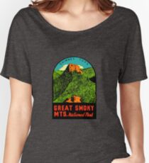 Great Smoky Mountains National Park Vintage Travel Decal 2 Women's Relaxed Fit T-Shirt