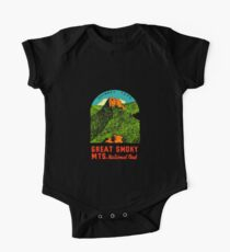 Great Smoky Mountains National Park Vintage Travel Decal 2 One Piece - Short Sleeve