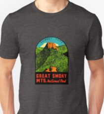 Great Smoky Mountains National Park Vintage Travel Decal 2 Unisex T-Shirt