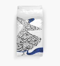 Rumi Calligraphy Blue Duvet Cover