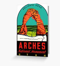 Arches National Monument Utah Moab Vintage Travel Decal Greeting Card