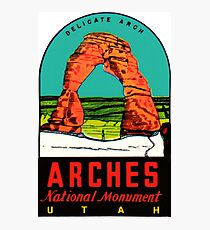 Arches National Monument Utah Moab Vintage Travel Decal Photographic Print