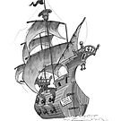 Pirate ship by AndyCatBug