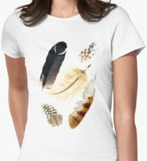 Brown feathers Womens Fitted T-Shirt