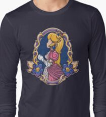 Stained-Glass Peach Long Sleeve T-Shirt