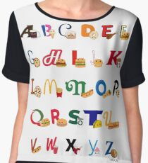 Fast Food Alphabet Women's Chiffon Top
