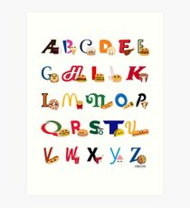 Fast Food Alphabet Art Print