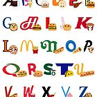 Fast Food Alphabet by Mike Boon