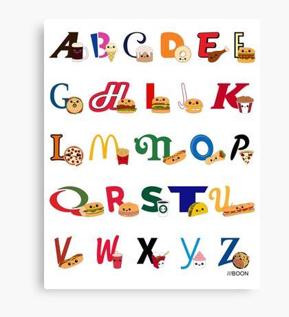 Fast Food Alphabet Canvas Print