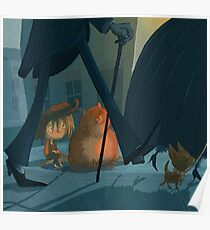 Urchin and fat cats Poster