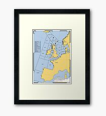 UK Shipping Forecast Map Framed Print
