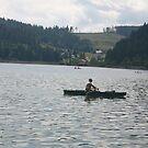 Boat in Lake Dedinky by Ilan Cohen