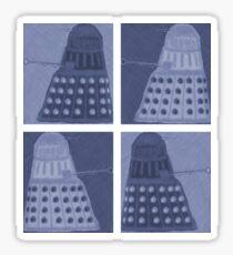 Daleks in negatives - blue Sticker
