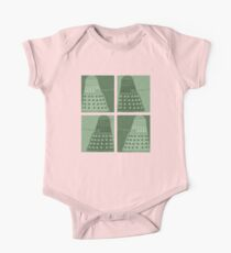 Daleks in negatives - green One Piece - Short Sleeve
