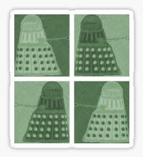 Daleks in negatives - green Sticker