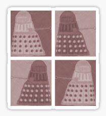 Daleks in negatives - brown Sticker