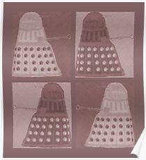 Daleks in negatives - brown Poster