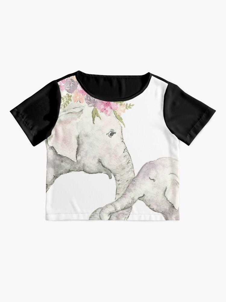 Vista alternativa de Blusa Elefante madre y bebé acuarela