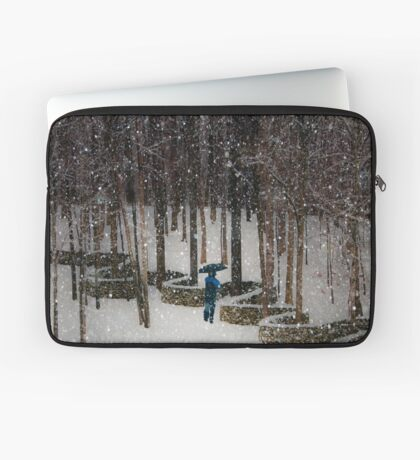 Woods Filling with Snow Laptop Sleeve