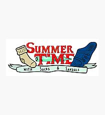 Summer Time - Adventure time parody  Photographic Print