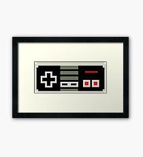 8 bit Nes Controller Framed Print