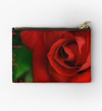 A Red, Red Rose, My Love Is Like Studio Pouch