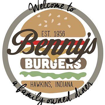 Bennys Burgers - Stranger Things by ElysianArt