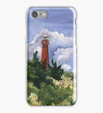 Barnegat Light in Watercolor iPhone Case/Skin
