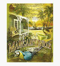 Margaritaville Poster Lyrics by Jimmy Buffett Photographic Print