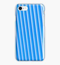 Blue metal background iPhone Case/Skin