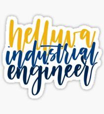 Helluva Industrial Engineer Georgia Tech Sticker