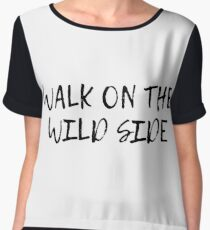 velvet underground walk on the wild side lyrics song rock n roll Chiffon Top