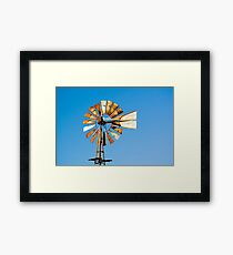 Kansas KS USA, wind powered water pump Framed Print