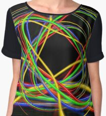 Abstract Ball Of Neon Lights Women's Chiffon Top