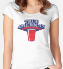 True American Champion (Variant) Women's Fitted Scoop T-Shirt
