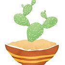 Digitaler Vektorentwurf des einfachen Kaktus von batkatbrown