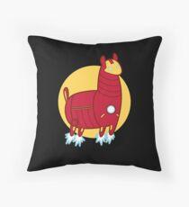 Iron Llama Throw Pillow