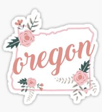 Oregon Floral State Sticker