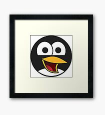 Linux Angry Tux Framed Print