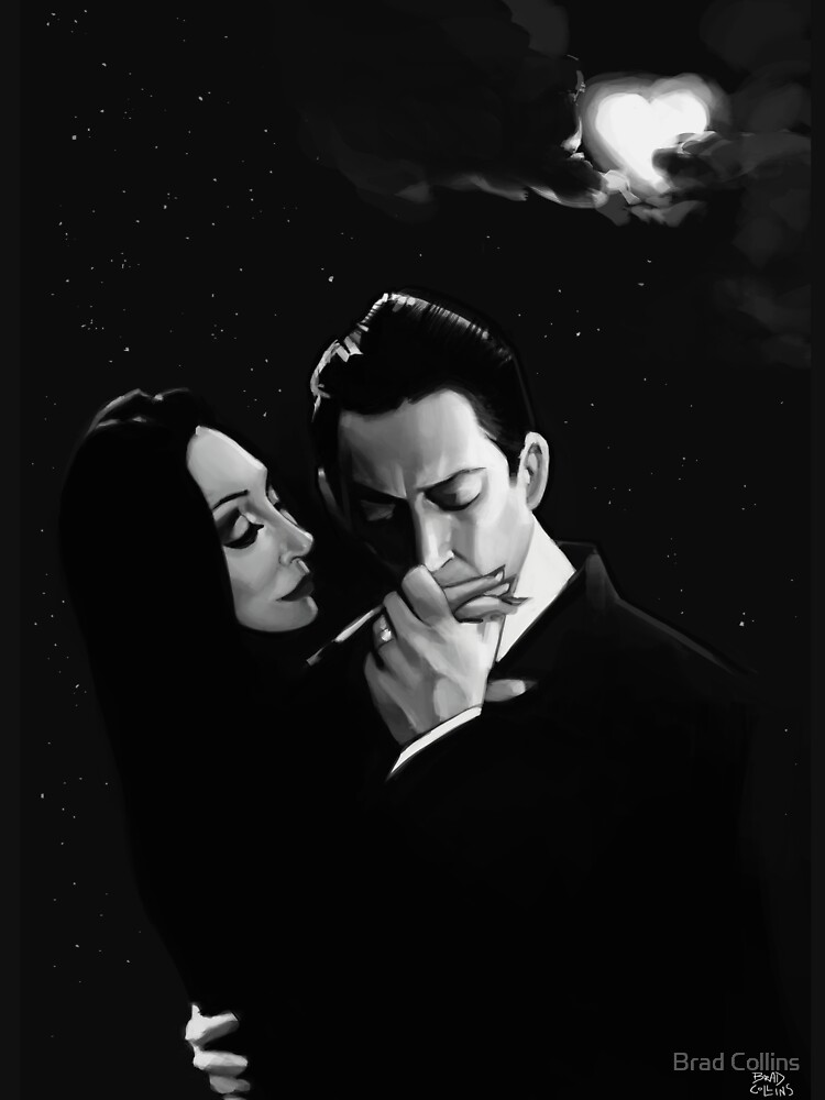 Gomez and Morticia Addams by bradcollins