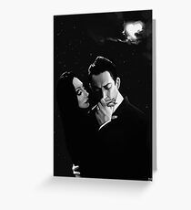 Gomez and Morticia Addams Greeting Card