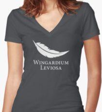 Wingardium Leviosa Women's Fitted V-Neck T-Shirt